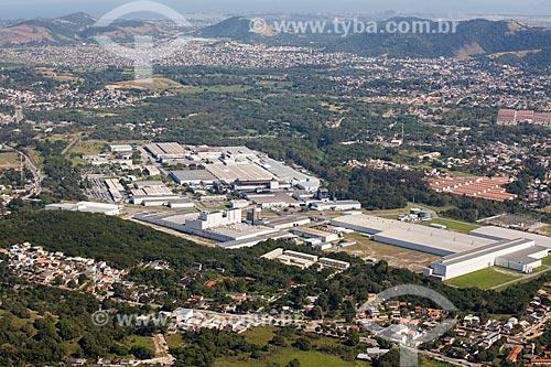 Foto aérea da fábrica da Michelin Pneus  - Rio de Janeiro - Rio de Janeiro (RJ) - Brasil