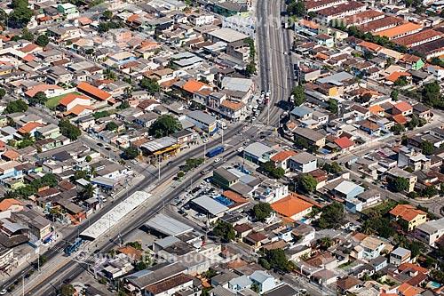 Foto aérea da estação do BRT Transoeste - Pina Rangel  - Rio de Janeiro - Rio de Janeiro (RJ) - Brasil