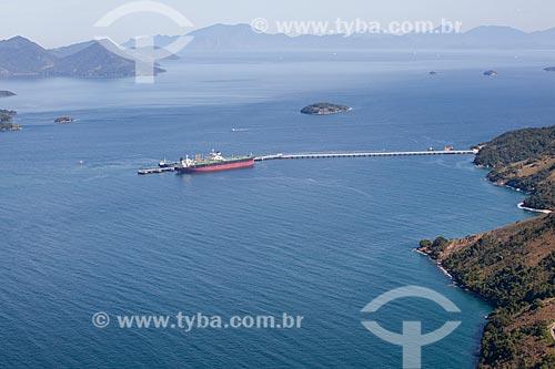 Foto aérea do Terminal Marítimo da Baía da Ilha Grande (TEBIG)  - Angra dos Reis - Rio de Janeiro (RJ) - Brasil
