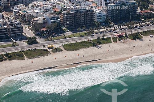 Foto aérea da orla da Praia do Recreio  - Rio de Janeiro - Rio de Janeiro (RJ) - Brasil