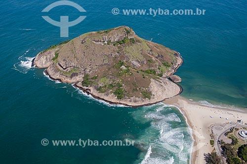 Foto aérea da Pedra do Pontal  - Rio de Janeiro - Rio de Janeiro (RJ) - Brasil