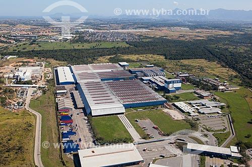 Foto aérea da fábrica da Companhia de Bebidas das Américas (AmBev)  - Rio de Janeiro - Rio de Janeiro (RJ) - Brasil