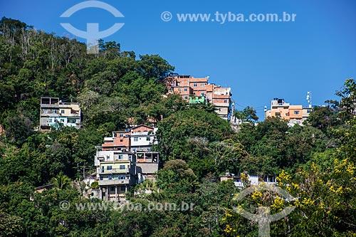 Vista da Favela Ladeira dos Tabajaras a partir de Botafogo  - Rio de Janeiro - Rio de Janeiro (RJ) - Brasil
