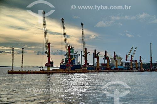 Porto do terminal de contêiner Chibatão  - Manaus - Amazonas (AM) - Brasil