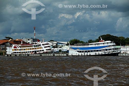 Vista do Porto de Parintins a partir do Rio Amazonas  - Parintins - Amazonas (AM) - Brasil