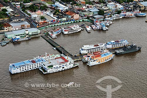 Foto aérea do Porto de Parintins  - Parintins - Amazonas (AM) - Brasil
