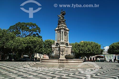 Monumento à Abertura dos Portos às Nações Amigas (1900) na Praça São Sebastião  - Manaus - Amazonas (AM) - Brasil