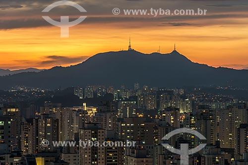 Pôr do sol no Pico do Jaraguá  - São Paulo - São Paulo (SP) - Brasil