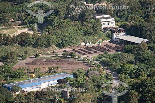 Foto aérea da usina de compostagem de lixo orgânico no aterro sanitário de Belo Horizonte  - Belo Horizonte - Minas Gerais (MG) - Brasil