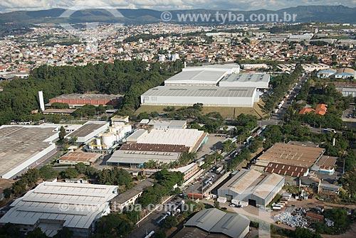Foto aérea do distrito industrial no bairro Cinco  - Contagem - Minas Gerais (MG) - Brasil