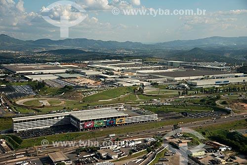Foto aérea da fábrica da montadora FIAT Automobiles  - Betim - Minas Gerais (MG) - Brasil