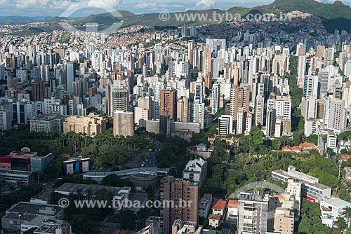 Foto aérea da Praça da Liberdade - integra o Circuito Cultural Praça da Liberdade - com o Palácio da Liberdade  - Belo Horizonte - Minas Gerais (MG) - Brasil