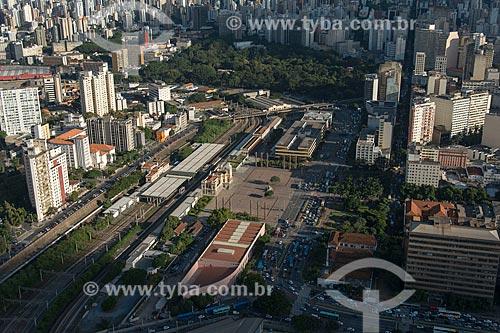 Foto aérea da Estação Central de Belo Horizonte (1895)  - Belo Horizonte - Minas Gerais (MG) - Brasil