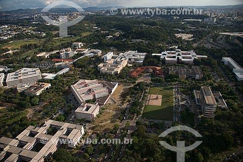 Foto aérea do Campus Pampulha da Universidade Federal de Minas Gerais  - Belo Horizonte - Minas Gerais (MG) - Brasil