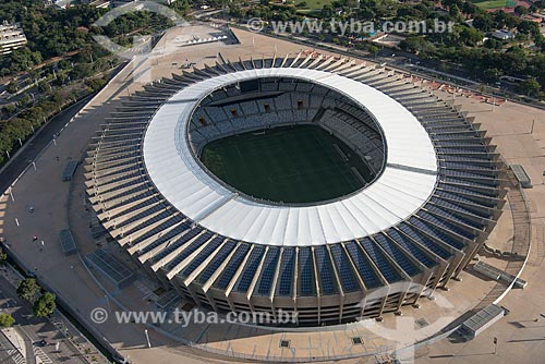 Foto aérea do Estádio Governador Magalhães Pinto (1965) - também conhecido como Mineirão - após as reformas para a Copa do Mundo no Brasil  - Belo Horizonte - Minas Gerais (MG) - Brasil