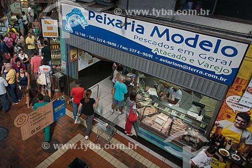 Peixaria no Mercado Central de Belo Horizonte (1929)  - Belo Horizonte - Minas Gerais (MG) - Brasil