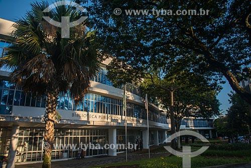 Fachada da Biblioteca Pública Estadual Luiz de Bessa - também conhecida como Biblioteca da Praça da Liberdade  - Belo Horizonte - Minas Gerais (MG) - Brasil