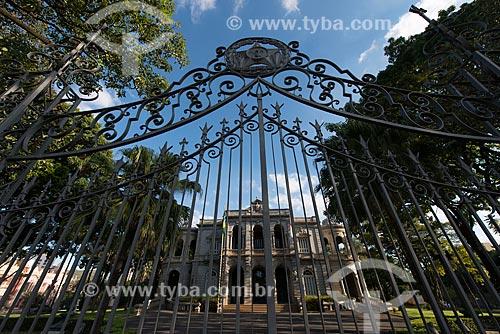 Fachada do Palácio da Liberdade (1897) - antiga sede do Governo do Estado e integrante do Circuito Cultural Praça da Liberdade  - Belo Horizonte - Minas Gerais (MG) - Brasil
