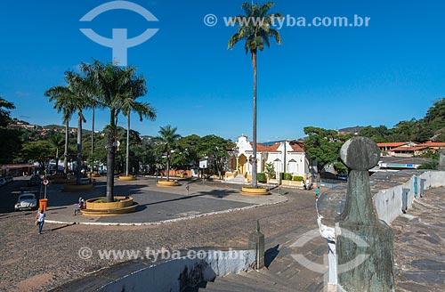 Praça Melo Viana no centro histórico de Sabará  - Sabará - Minas Gerais (MG) - Brasil