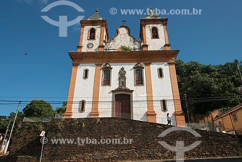 Fachada da Igreja de São Francisco de Assis (1798) - Igreja de São Francisco de Assis sob a invocação de Nossa Senhora dos Anjos  - Sabará - Minas Gerais (MG) - Brasil