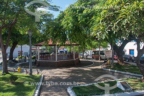 Coreto na Praça Santa Rita - centro histórico de Sabará  - Sabará - Minas Gerais (MG) - Brasil