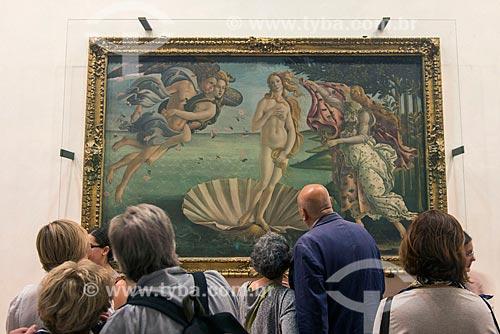 Quadro Nascita di Venere (O Nascimento de Vênus) de Sandro Botticelli em exibição na Galleria degli Uffizi (Galeria dos Ofícios)  - Florença - Província de Florença - Itália