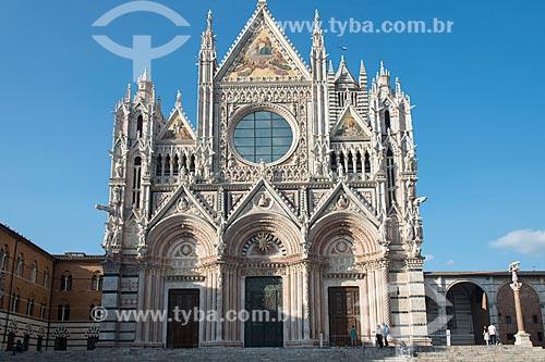 Fachada da Duomo di Siena (Catedral de Siena) - 1263  - Siena - Província de Siena - Itália