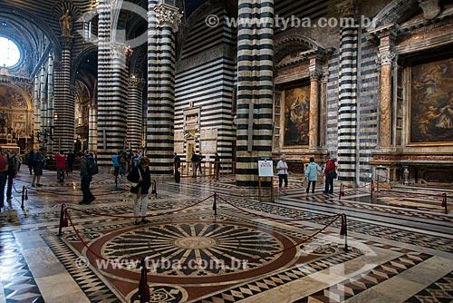 Interior da Duomo di Siena (Catedral de Siena) - 1263  - Siena - Província de Siena - Itália