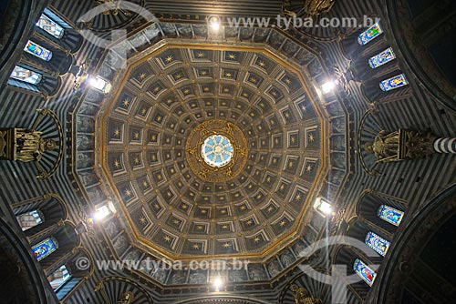 Detalhe da cúpula do Duomo di Siena (Catedral de Siena) - 1263  - Siena - Província de Siena - Itália