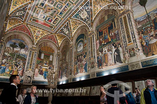 Tre Grazie (Três Graças) na Livraria Piccolomini dentro da Duomo di Siena (Catedral de Siena)  - Siena - Província de Siena - Itália