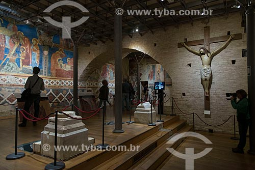Interior da cripta da Duomo di Siena (Catedral de Siena)  - Siena - Província de Siena - Itália