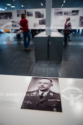 Fotografia de Heinrich Himmler - líder da SS e chefe da policia alemã - parte do acervo permanente do Topographie des Terrors (Topografia do Terror)  - Berlim - Berlim - Alemanha