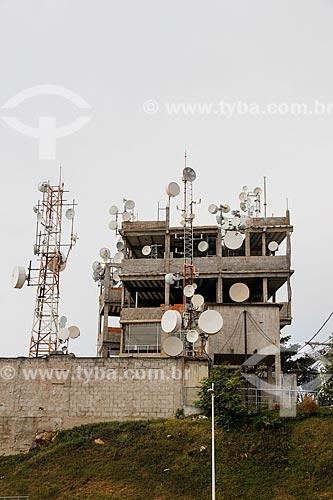 Antenas de celular no Complexo do Alemão  - Rio de Janeiro - Rio de Janeiro (RJ) - Brasil