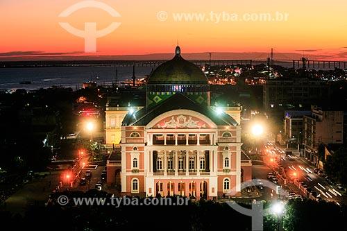 Pôr do sol no Teatro Amazonas (1896)  - Manaus - Amazonas (AM) - Brasil