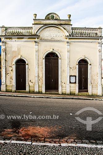 Fachada do Teatro Adolpho Mello (1856) - mais antigo teatro de Santa Catarina  - São José - Santa Catarina (SC) - Brasil