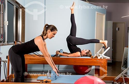 Aula de Pilates - alongamento com o reformer  - Rio de Janeiro - Rio de Janeiro (RJ) - Brasil