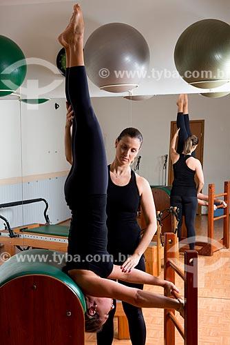 Aula de Pilates - alongamento com o ladder barrel  - Rio de Janeiro - Rio de Janeiro (RJ) - Brasil