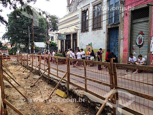 Canteiro de obras da reforma do Bonde de Santa Teresa  - Rio de Janeiro - Rio de Janeiro (RJ) - Brasil