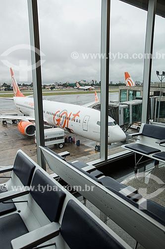 Vista de avião da GOL - Linhas Aéreas Inteligentes - a partir da área de embarque do Aeroporto de Congonhas  - São Paulo - São Paulo (SP) - Brasil