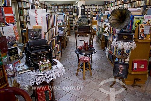 Interior da Livraria Érico Veríssimo  - Porto Alegre - Rio Grande do Sul (RS) - Brasil