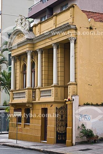 Fachada da Fundação de Economia e Estatística Siegfried Emanuel Heuser (1916)  - Porto Alegre - Rio Grande do Sul (RS) - Brasil