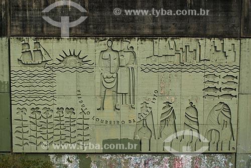 Mural à Loureiro da Silva (1970) na Praça Conde de Porto Alegre  - Porto Alegre - Rio Grande do Sul (RS) - Brasil