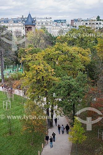 Vista do Jardin dAcclimatation (Jardins da Aclimação) a partir da Fundação Louis Vuitton  - Paris - Paris - França