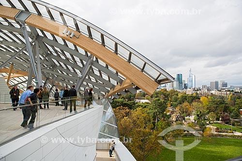 Fundação Louis Vuitton com o Jardin dAcclimatation (Jardins da Aclimação) à direita  - Paris - Paris - França