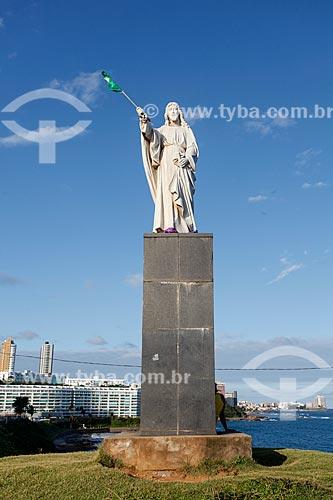 Monumento Jesus - o Salvador - (1920) no Morro do Cristo  - Salvador - Bahia (BA) - Brasil