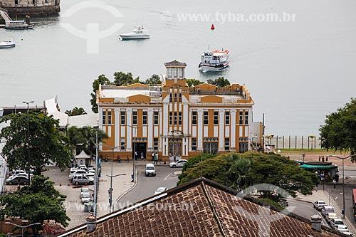 Vista do Porto da Companhia de Navegação Bahiana a partir do Elevador Lacerda  - Salvador - Bahia (BA) - Brasil