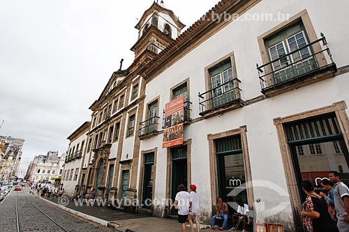 Fachada do Museu da Misericórdia (século XVII) - prédio da antiga Santa Casa de Misericórdia de Salvador  - Salvador - Bahia (BA) - Brasil