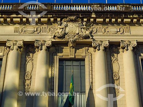 Detalhe da fachada do Palácio Piratini (1921) - sede do Governo do Estado  - Porto Alegre - Rio Grande do Sul (RS) - Brasil