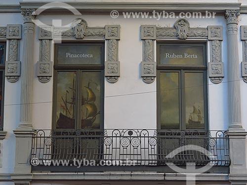 Detalhe da fachada da Pinacoteca Ruben Berta (1893)  - Porto Alegre - Rio Grande do Sul (RS) - Brasil