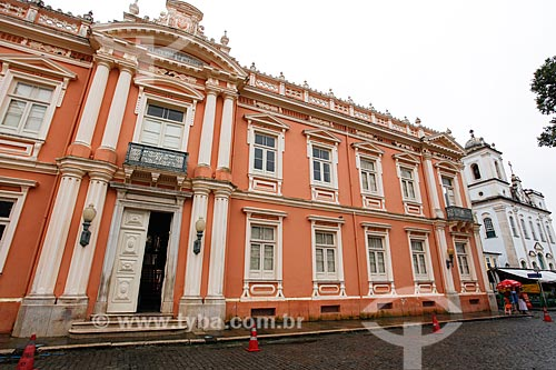 Fachada da Faculdade de Medicina da Universidade Federal da Bahia (1808) - primeira faculdade de medicina do Brasil  - Salvador - Bahia (BA) - Brasil